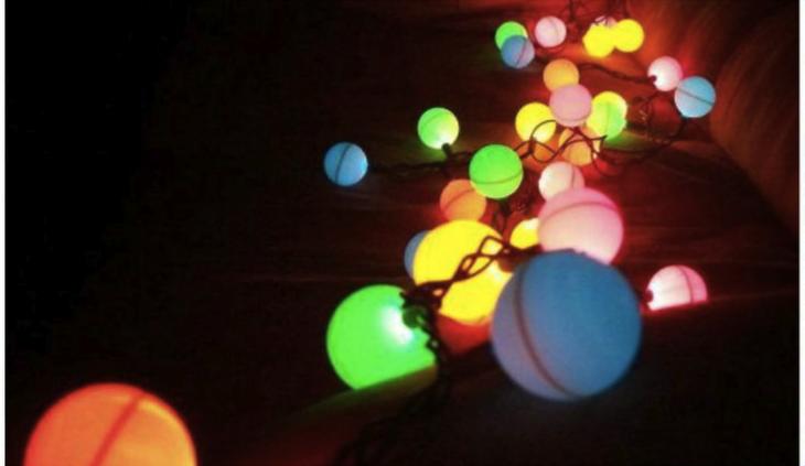 Old ping pong balls what do you do edmonton table - Ping pong christmas lights ...